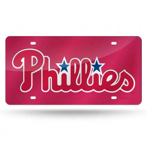 Philadelphia Phillies Laser Cut License Plate