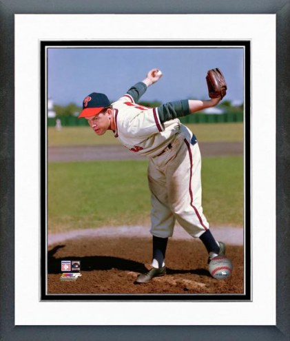 Philadelphia Phillies Robin Roberts Pitching Framed Photo