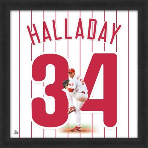 Philadelphia Phillies Roy Halladay Uniframe Framed Jersey Photo