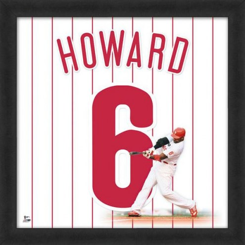Philadelphia Phillies Ryan Howard Uniframe Framed Jersey Photo