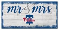 Philadelphia Phillies Script Mr. & Mrs. Sign