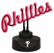 Philadelphia Phillies Script Neon Desk Lamp