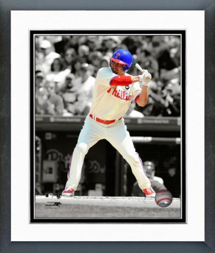 Philadelphia Phillies Shane Victorino Spotlight Action Framed Photo