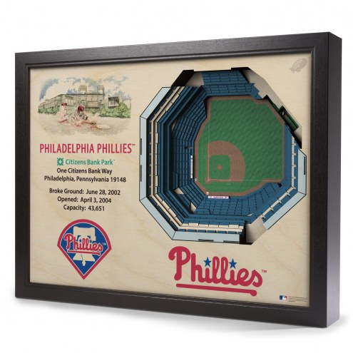 Philadelphia Phillies 25-Layer StadiumViews 3D Wall Art