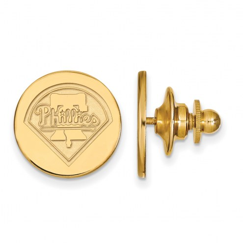 Philadelphia Phillies Sterling Silver Gold Plated Lapel Pin