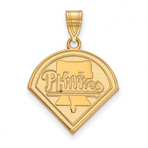 Philadelphia Phillies Sterling Silver Gold Plated Large Pendant