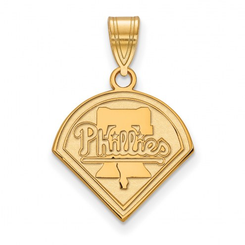 Philadelphia Phillies Sterling Silver Gold Plated Medium Pendant
