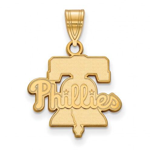 Philadelphia Phillies Sterling Silver Gold Plated Medium Pendant