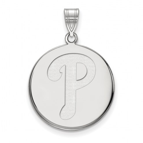 Philadelphia Phillies Sterling Silver Large Disc Pendant