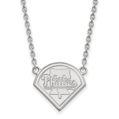 Philadelphia Phillies Sterling Silver Large Pendant Necklace