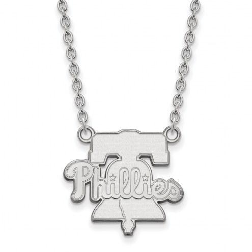 Philadelphia Phillies Sterling Silver Large Pendant Necklace