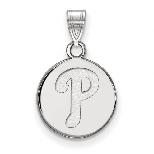 Philadelphia Phillies Sterling Silver Small Disc Pendant