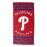 Philadelphia Phillies Stripes Beach Towel