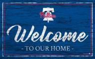 Philadelphia Phillies Team Color Welcome Sign