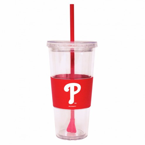 Philadelphia Phillies Tumbler with Straw