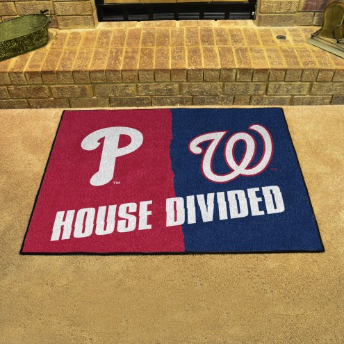 Philadelphia Phillies/Washington Nationals House Divided Mat