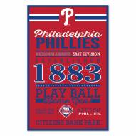 Philadelphia Phillies Established Wood Sign