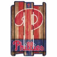 Philadelphia Phillies Wood Fence Sign