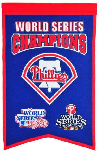 Philadelphia Phillies Champs Banner