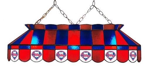 "Philadelphia Phillies MLB Team 40"" Rectangular Stained Glass Shade"