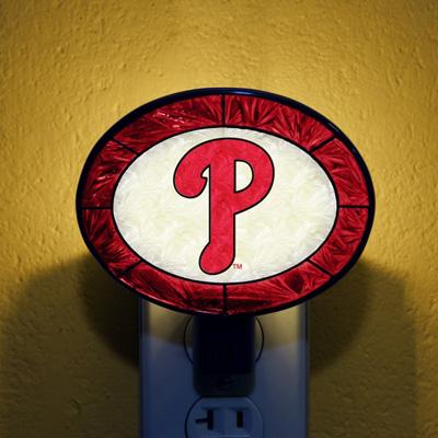 Philadelphia Phillies MLB Stained Glass Night Light