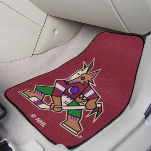 Arizona Coyotes 2-Piece Carpet Car Mats