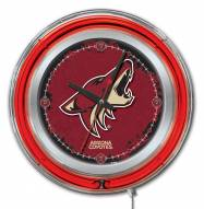 Arizona Coyotes Neon Clock