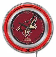 Arizona Coyotes Neon Clock