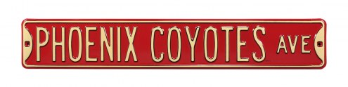 Arizona Coyotes NHL Authentic Street Sign