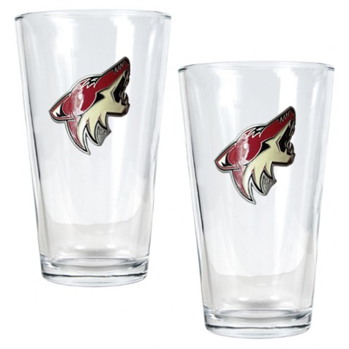 Arizona Coyotes NHL Pint Glass - Set of 2