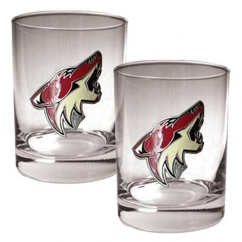 Arizona Coyotes NHL Rocks Glass - Set of 2