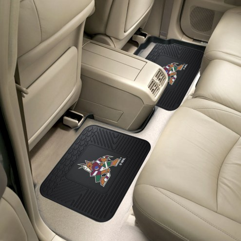 Arizona Coyotes Vinyl 2-Piece Rear Floor Mats