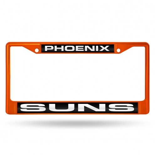 Phoenix Suns Laser Colored Chrome License Plate Frame