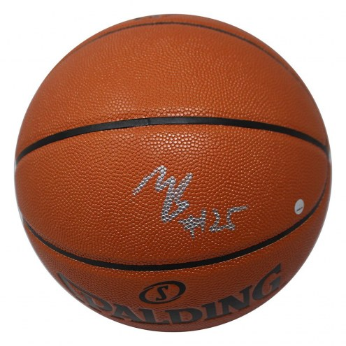 Phoenix Suns Mikal Bridges Signed Spalding NBA Indoor/Outdoor Full Size Basketball