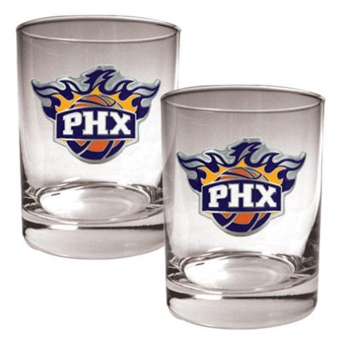 Phoenix Suns NBA 2-Piece 14 Oz. Rocks Glass Set