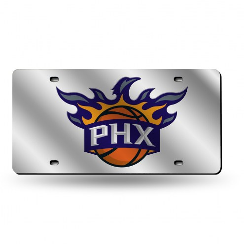 Phoenix Suns Silver Laser License Plate