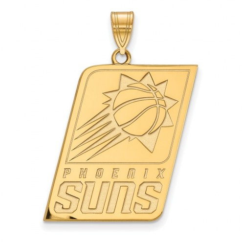 Phoenix Suns Sterling Silver Gold Plated Extra Large Pendant
