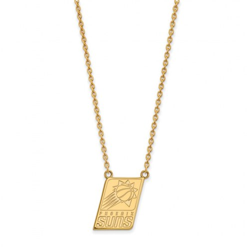 Phoenix Suns Sterling Silver Gold Plated Large Pendant Necklace