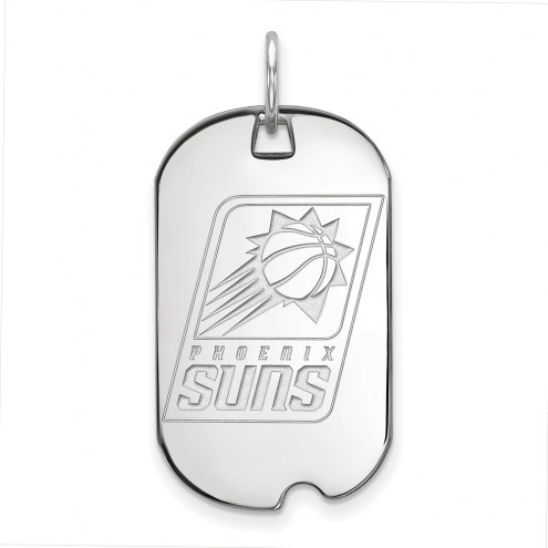 Phoenix Suns Sterling Silver Small Dog Tag