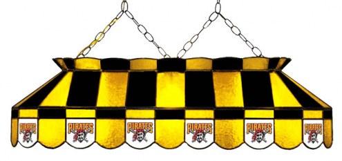 "Pittsburgh Pirates MLB Team 40"" Rectangular Stained Glass Shade"
