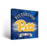 Pittsburgh Panthers Banner Canvas Wall Art