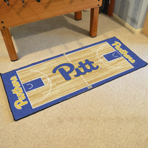 Pittsburgh Panthers Basketball Court Runner Rug