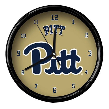 Pittsburgh Panthers Black Rim Clock