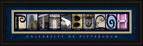 Pittsburgh Panthers Campus Letter Art