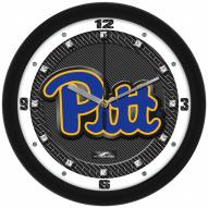 Pittsburgh Panthers Carbon Fiber Wall Clock