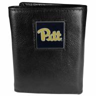 Pittsburgh Panthers Deluxe Leather Tri-fold Wallet in Gift Box