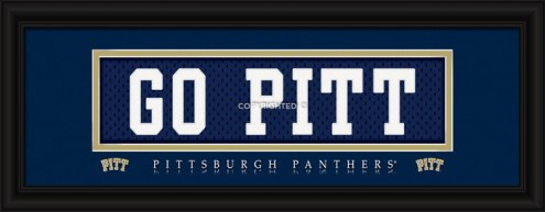 """Pittsburgh Panthers """"Go Pitt"""" Stitched Jersey Framed Print"""