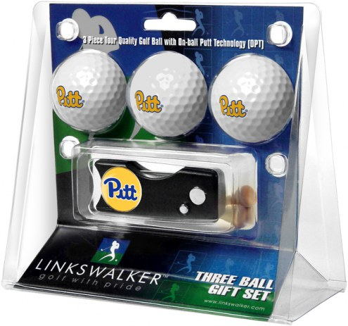 Pittsburgh Panthers Golf Ball Gift Pack with Spring Action Divot Tool