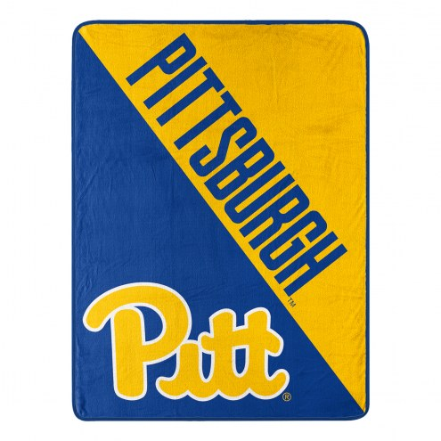 Pittsburgh Panthers Halftone Raschel Blanket