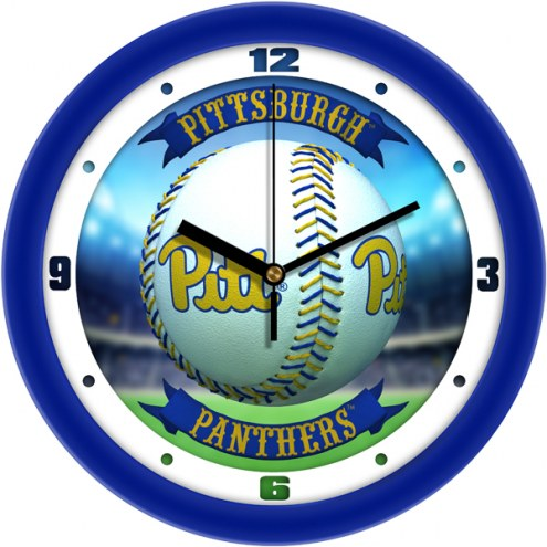 Pittsburgh Panthers Home Run Wall Clock